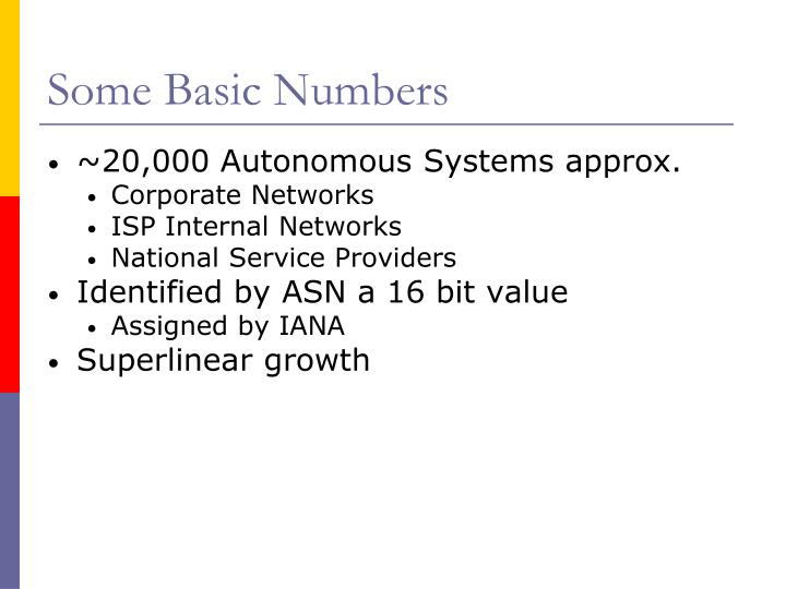 Some Basic Numbers