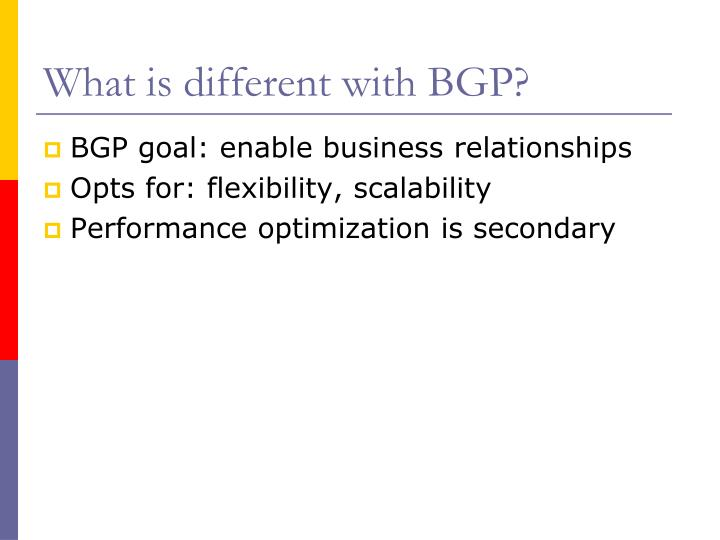 What is different with BGP?