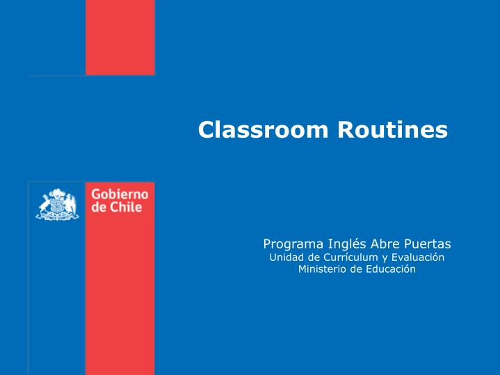 classroom routines n.