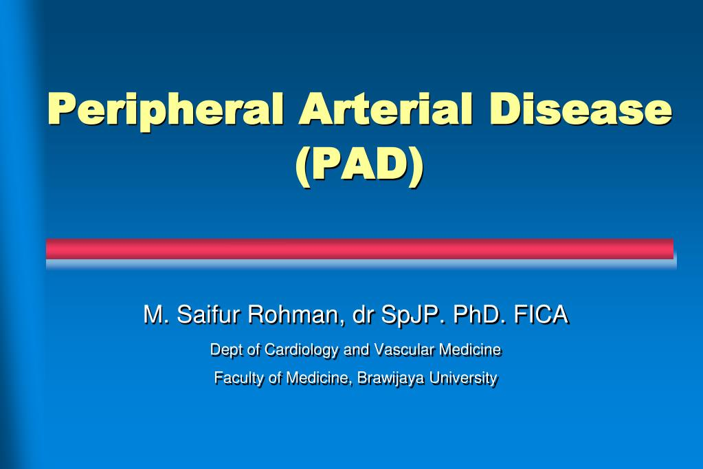 Peripheral artery disease powerpoint template |authorstream.