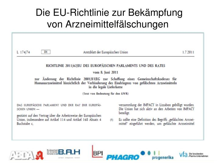 Die EU-Richtlinie zur Bekämpfung