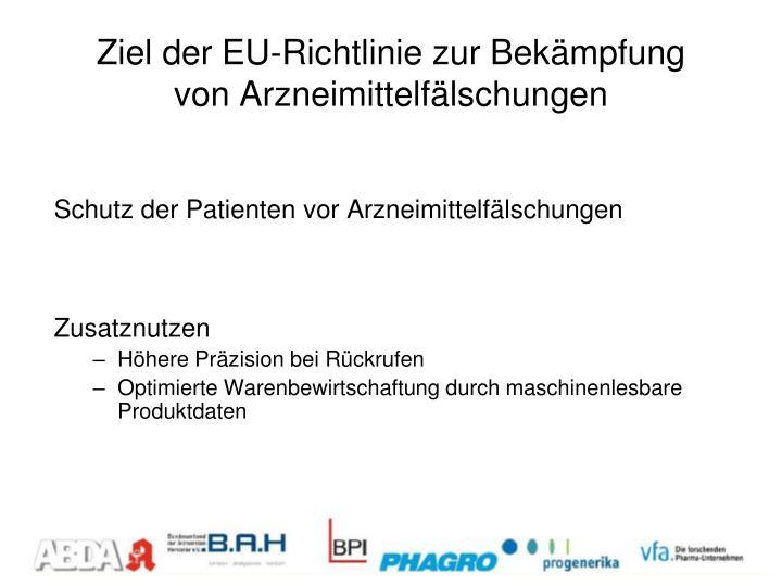 Ziel der EU-Richtlinie zur Bekämpfung