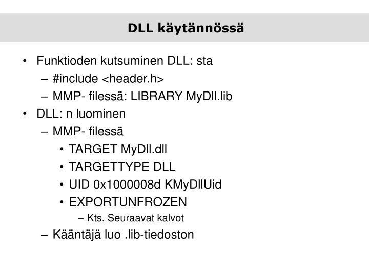 DLL käytännössä