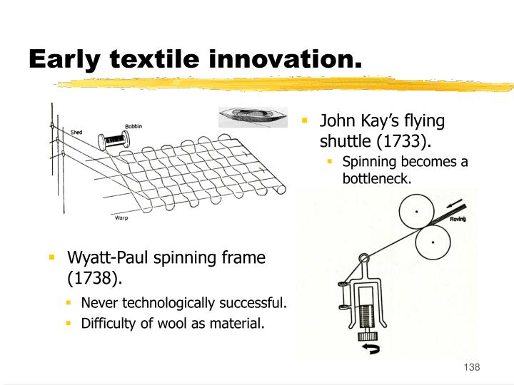 Early textile innovation.