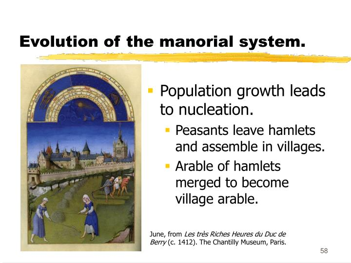 Evolution of the manorial system.