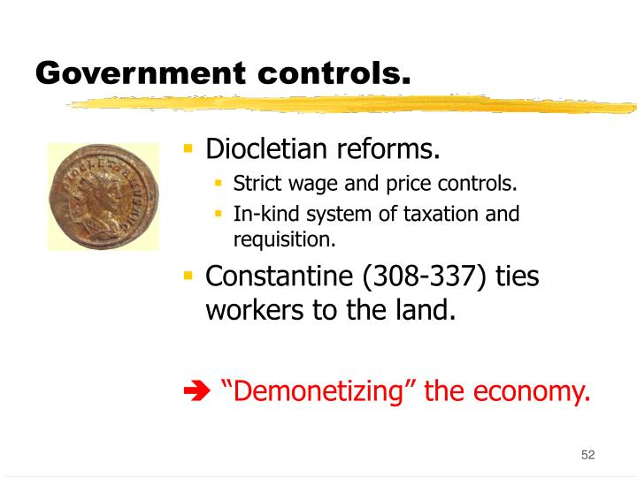 Government controls.