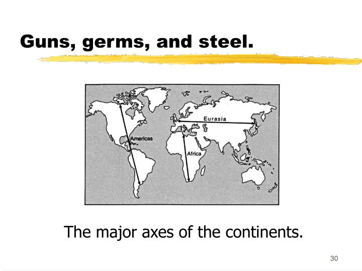 Guns, germs, and steel.