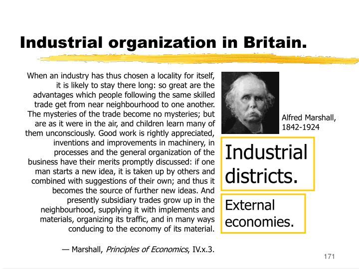 Industrial organization in Britain.