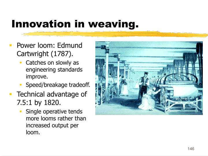 Innovation in weaving.