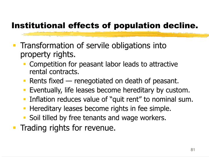 Institutional effects of population decline.
