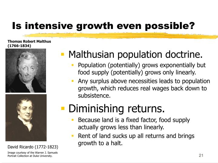 Is intensive growth even possible?