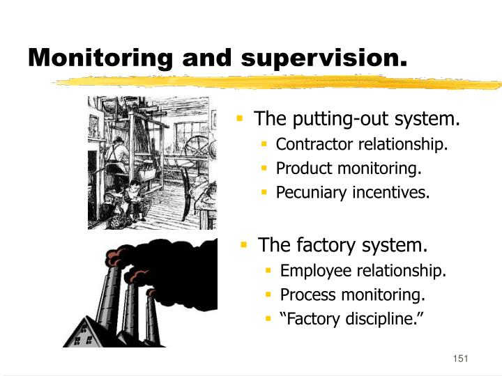 Monitoring and supervision.