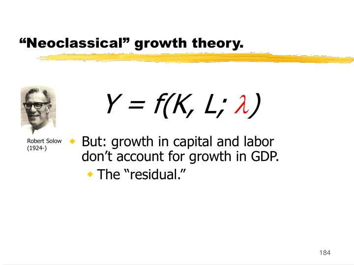 """""""Neoclassical"""" growth theory."""
