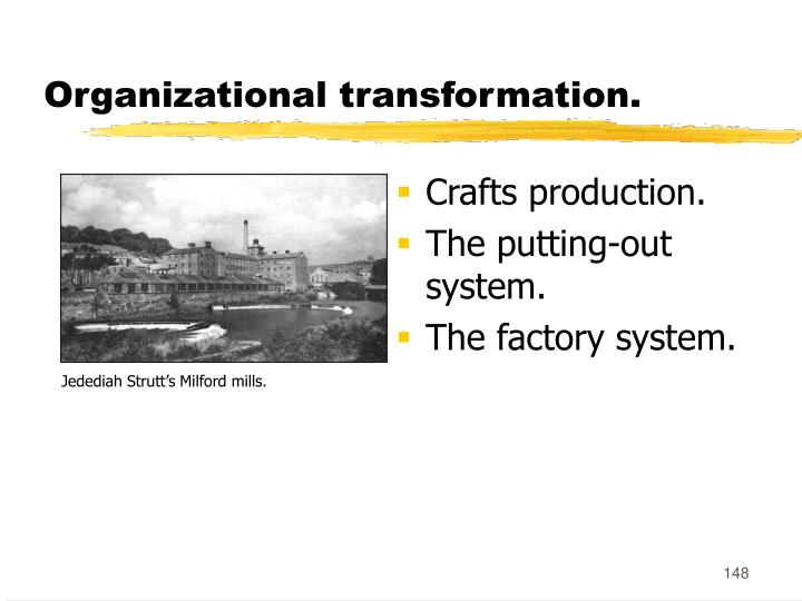 Organizational transformation.