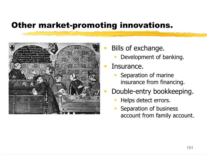 Other market-promoting innovations.