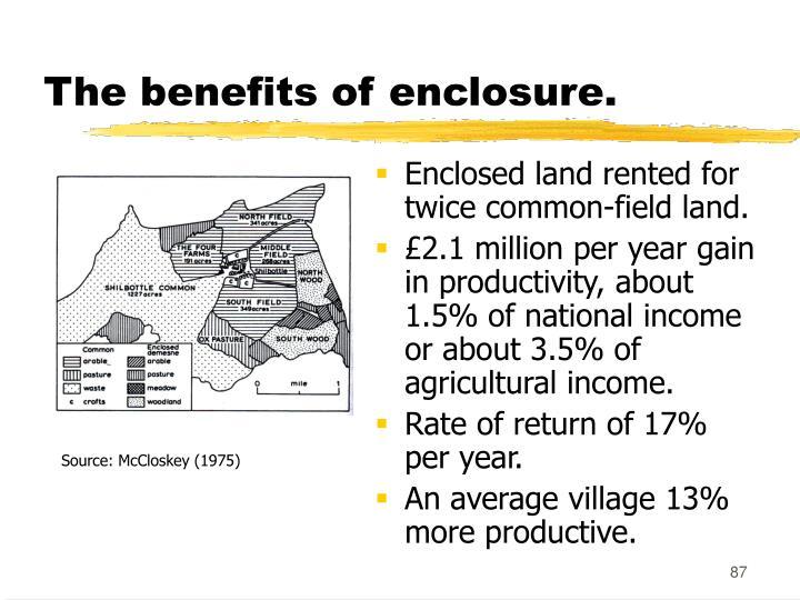 The benefits of enclosure.
