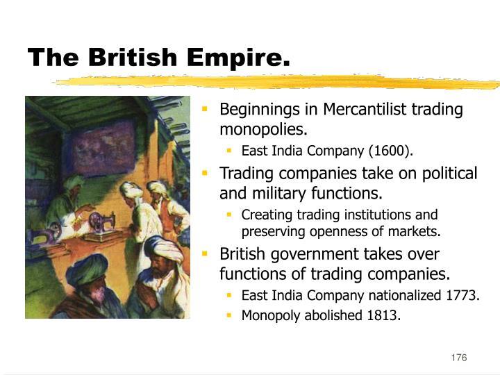 The British Empire.