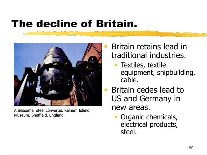 The decline of Britain.