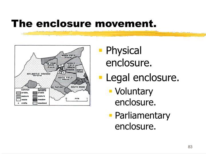 The enclosure movement.