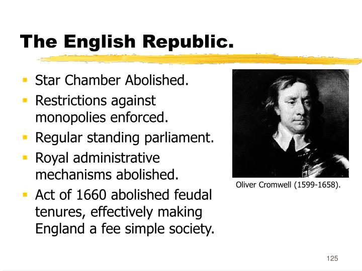 The English Republic.