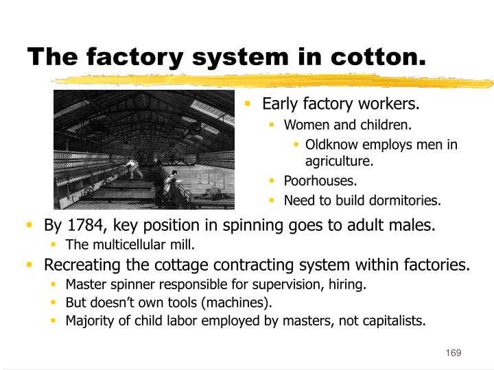 The factory system in cotton.