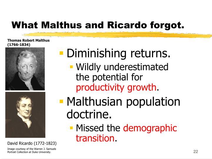 What Malthus and Ricardo forgot.