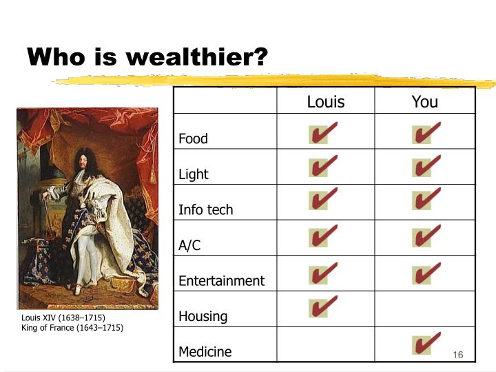 Who is wealthier?
