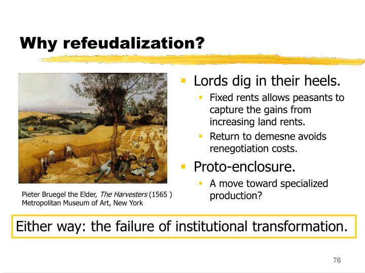 Why refeudalization?