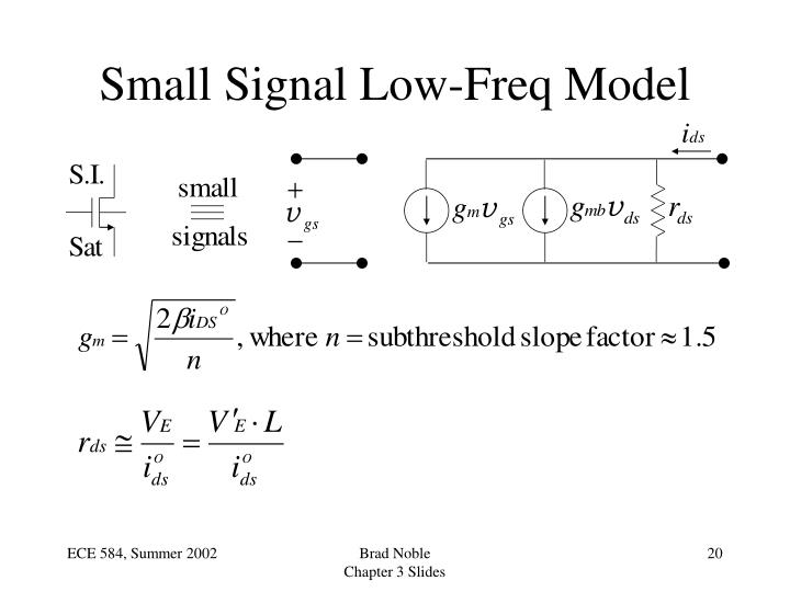 Small Signal Low-Freq Model