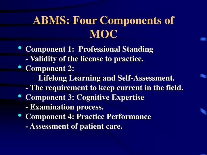 ABMS: Four Components of MOC