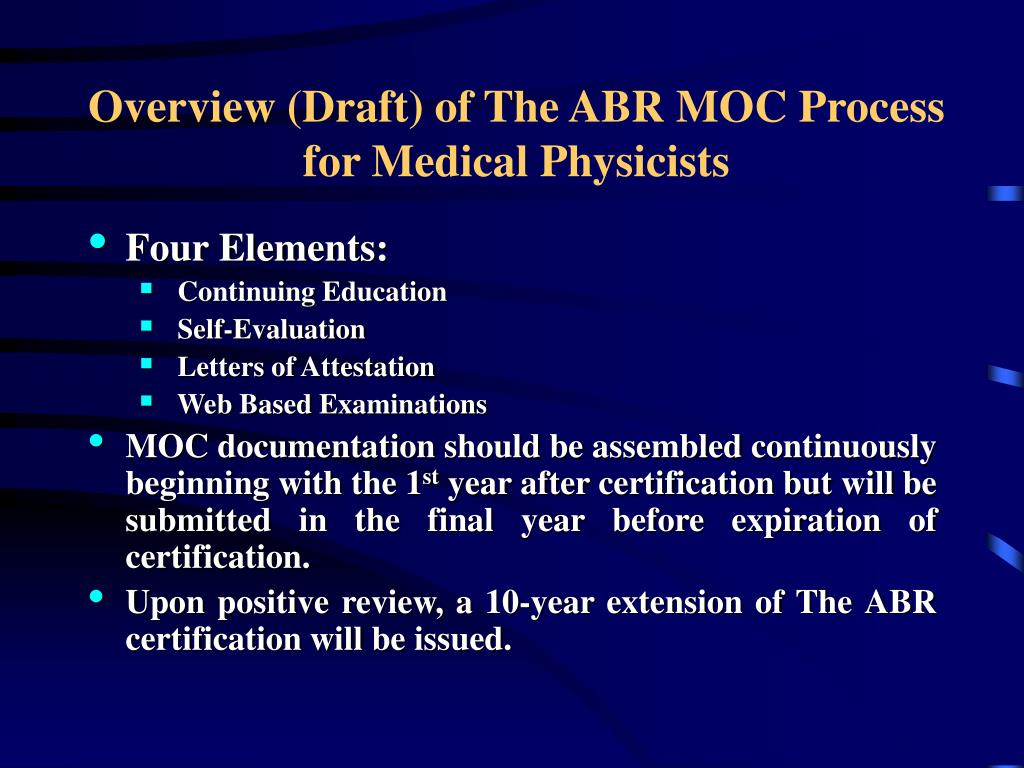 PPT - Current Activities of the American Board of Radiology