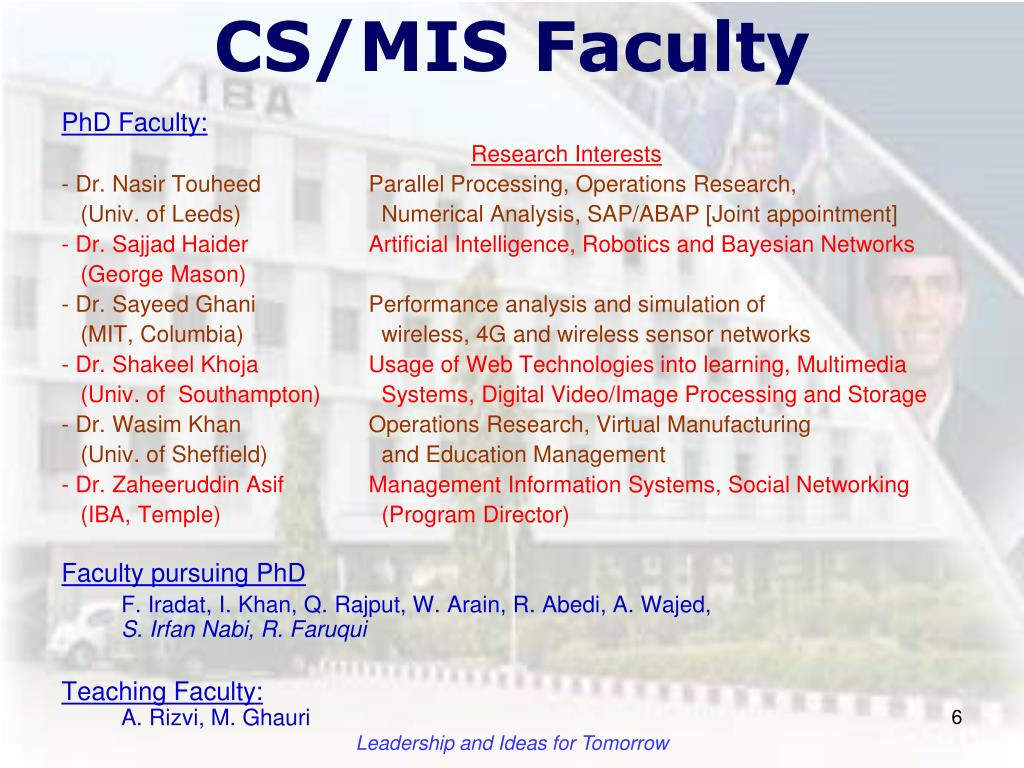 PPT - Introduction to the Faculty of computer science Orientation