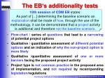 the eb s additionality tests
