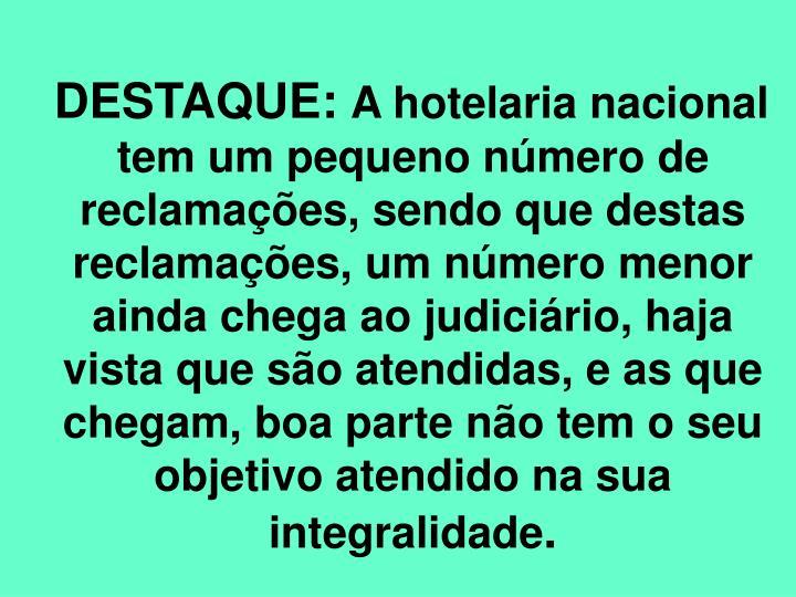 DESTAQUE: