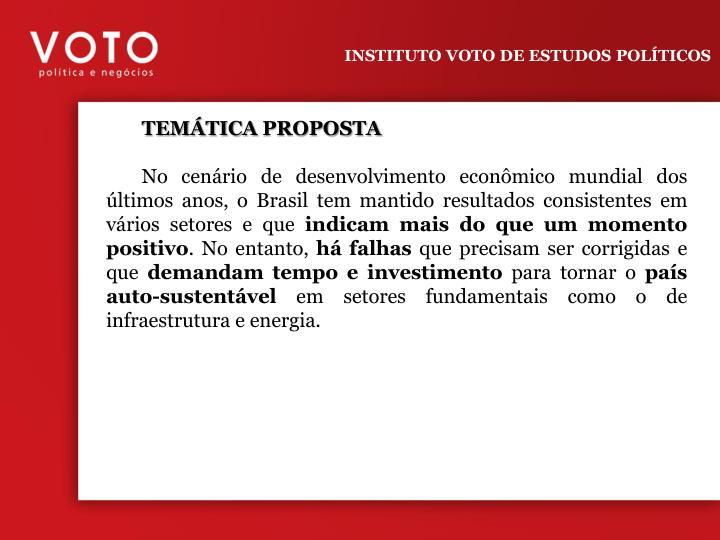 INSTITUTO VOTO DE ESTUDOS POLÍTICOS