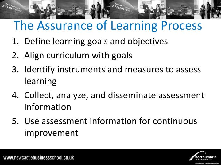 The assurance of learning process