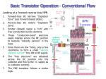 basic transistor operation conventional flow