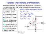 transistor characteristics and parameters3