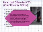 peran dari office dari cfo chief financial officer