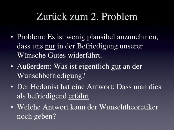 Zurück zum 2. Problem