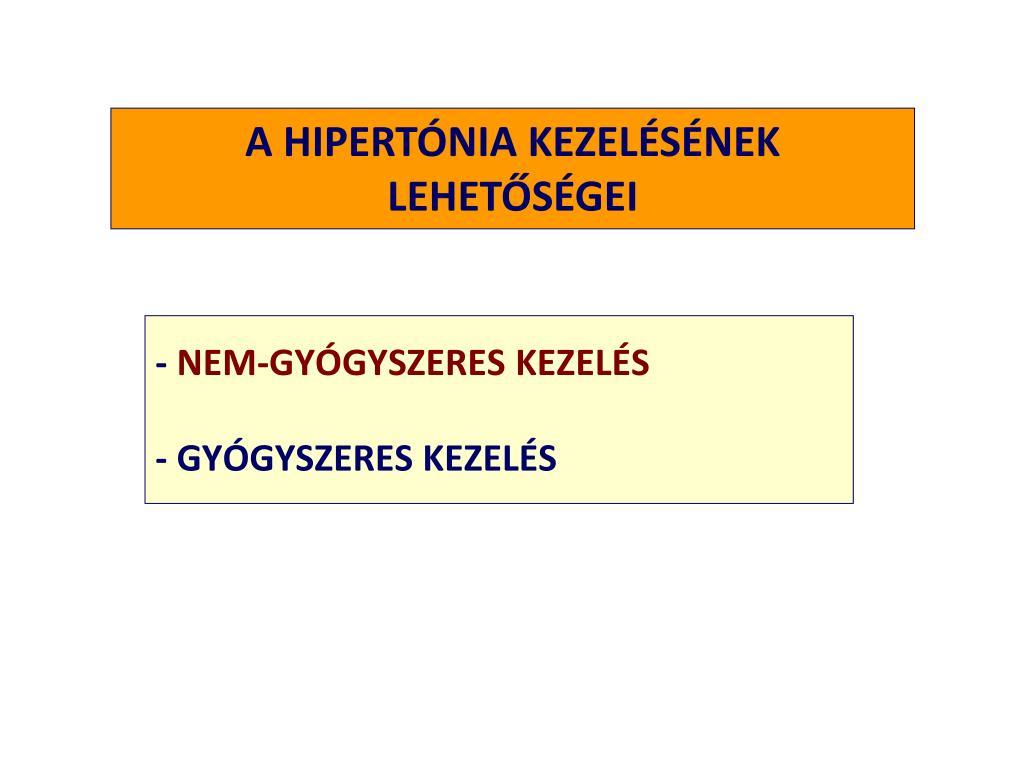 a hipertónia nem szokásos kezelése