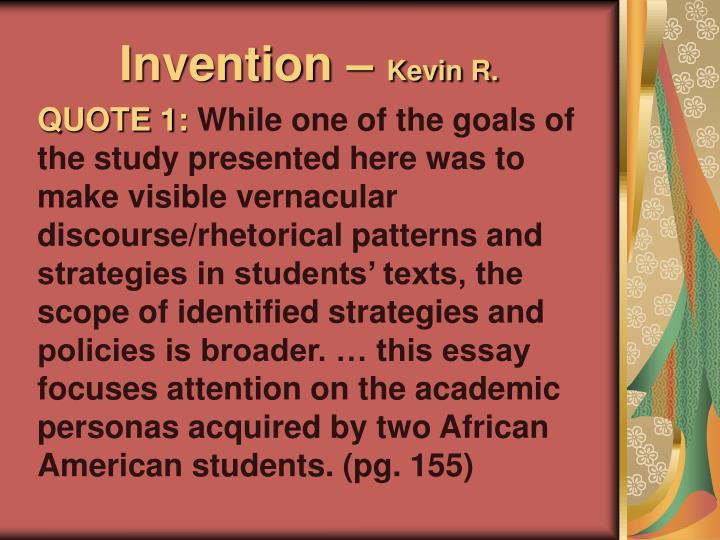 Invention –