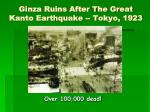 ginza ruins after the great kanto earthquake tokyo 1923