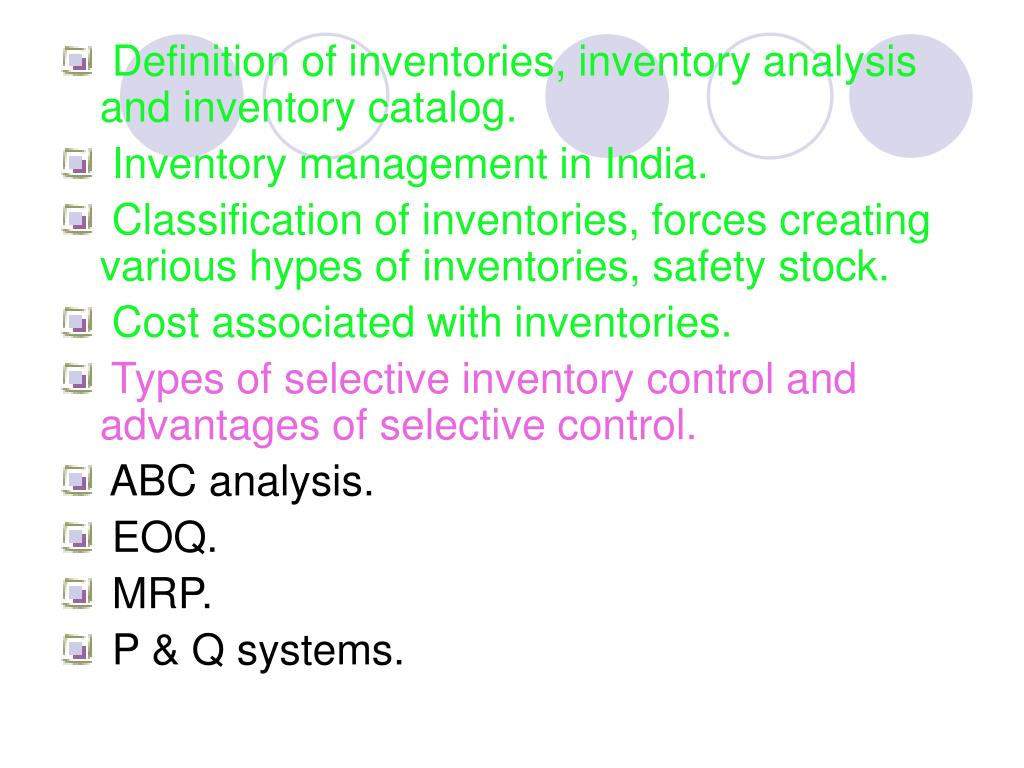 PPT - INVENTORY MANAGEMENT PowerPoint Presentation - ID:3863468
