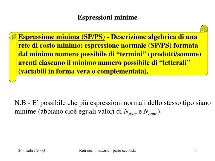 Espressioni minime