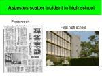 asbestos scatter incident in high school