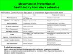 movement of prevention of health injury from stock asbestos