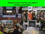 network event of korea and japan s victims associations