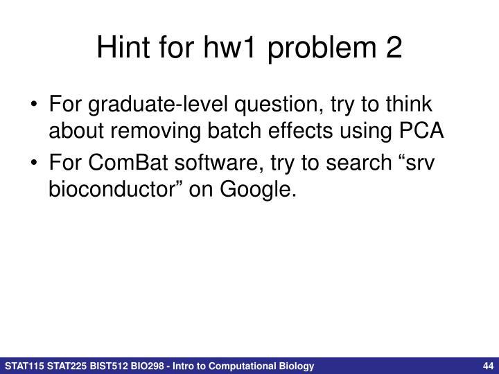 Hint for hw1 problem 2