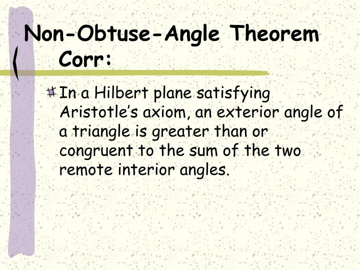 Non-Obtuse-Angle Theorem